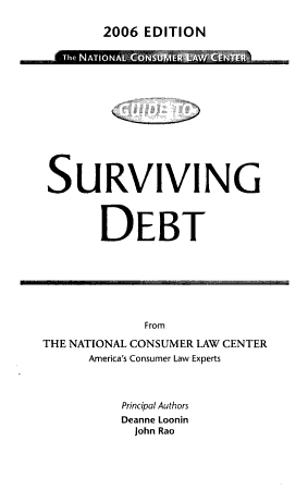 The National Consumer Law Center Guide to Surviving Debt PDF