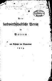 Der landwirthschaftliche verein in Baiern am schlusse des septembers 18-