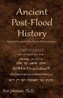 Ancient Post-Flood History