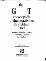 The Giant Encyclopedia of Theme Activities for Children 2 to 5 PDF