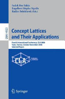 Concept Lattices and Their Applications