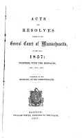 Acts and Resolves Passed by the General Court of Massachusetts PDF