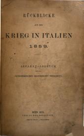 Rückblicke auf den Krieg in Italien, 1859