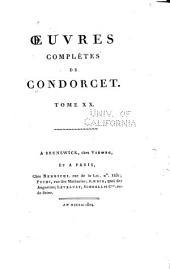 Oeuvres complètes de Condorcet: Volume20