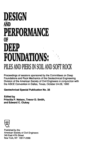 Design and Performance of Deep Foundations PDF