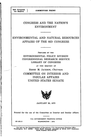 Congress and the Nation s Environment PDF