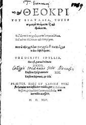 Theocriti Syracvsani Eidyllia Triginta Sex