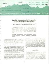 Can soil amendments aid revegetation of New Mexico coal mines spoils?