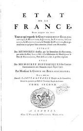 Etat de la France...