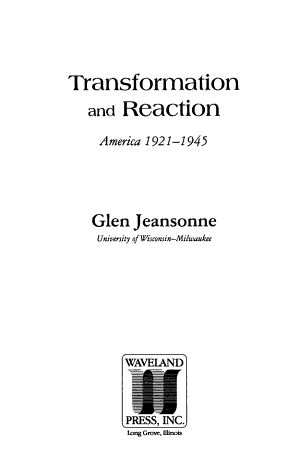 Transformation and Reaction PDF