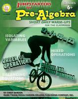 Jumpstarters for Pre Algebra  Grades 6   8 PDF