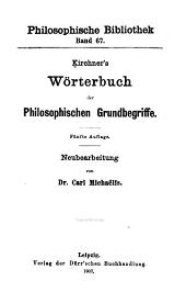 Kirchner's Wörterbuch der philosophischen Grundbegriffe