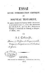 Essai d'une introduction critique du nouveau Testament
