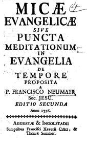 MICAE EVANGELICAE SIVE PUNCTA MEDITATIONUM IN EVANGELIA DE TEMPORE