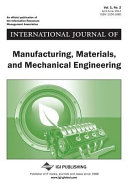 International Journal of Manufacturing  Materials  and Mechanical Engineering  Issue 1 PDF