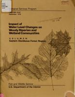 Impact of Water Level Changes on Woody Riparian and Wetland Communities PDF