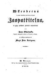Wsseobecna ... Zaopatritelna ... (Die allgemeine mit der ersten österreichischen Sparkasse vereinigte Versorgungsanstalt beleuctet, uebersetzt von M. D. Rettig)