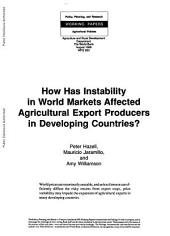 How Has Instability in World Markets Affected Agricultural Export Producers in Developing Countries?: Volume 263
