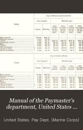 Manual of the Paymaster's Department, United States Marine Corps: August, 1912