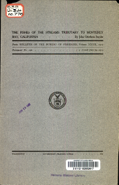 The fishes of the streams tributary to Monterey bay, California: Issue 776