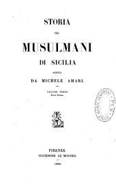 Storia dei Musulmani di Sicilia: Volume 3