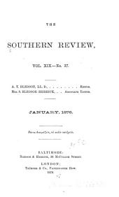 The Southern Review: Volumes 19-20