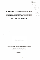 A Tourism Training Manual for Tourism Administrators in the Asia Pacific Region PDF