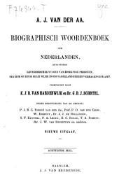 Biographisch woordenboek der Nederlanden: bevattende levensbeschrijvingen van zoodanige personen, die zich op eenigerleiwijze in ons Vaderland hebben vermaard gemaakt, Volume 24