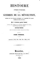 Campagnes de 1788, 1789, 1790, 1791, 1792, et 1793