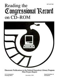 Reading The Congressional Record On Cd Rom Book PDF