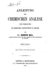 Anleitung zur chemischen analyse zum gebrauche im chemhachen laboratorium au Giessen