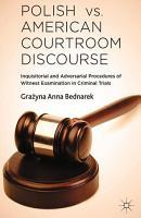 Polish vs  American Courtroom Discourse PDF