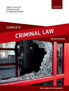 Complete Criminal Law PDF