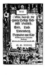 Bible de Luther de 1534, réimpression intégral: Volume 1
