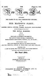 The New navy list, compiled by C. Haultain [and] (J. Allen)