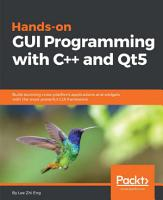 Hands On GUI Programming with C   and Qt5 PDF