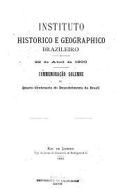 22 de abril de 1900: commemoração solemne do quarto centenario do descobrimento do Brazil