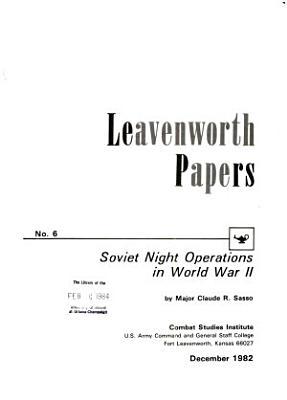 Soviet Night Operations in World War II