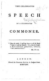 The Celebrated Speech of a Celebrated Commoner