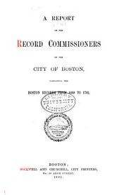 Boston records, 1660-1701. 1881