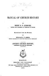 A Manual of Church History