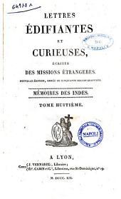 Lettres Edifiantes et Curieuses, Ecrites des Missions Etrangeres