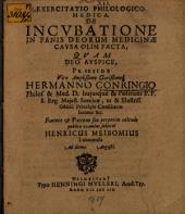 Exercitatio philol. med. de incubatione in fanis deorum medicinae causa olim facta