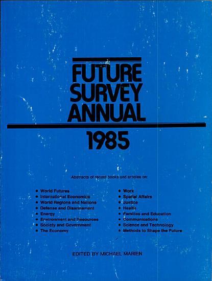 Future Survey Annual 1985 PDF