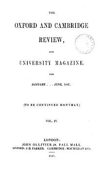 The Oxford and Cambridge review PDF