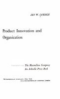 Product Innovation and Organization PDF