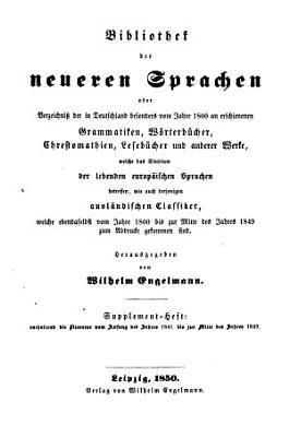 Bibliothek der neueren Sprachen PDF