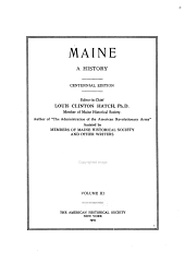 Maine: a history, Volume 3