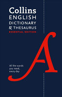 Collins English Dictionary and Thesaurus Essential Edition PDF