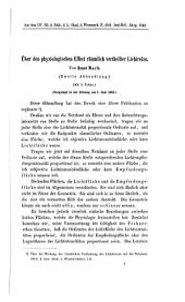 Über den physiologischen Effect räumlich vertheilter Lichtreize: zweite Abhandlung : vorgelegt in der Sitzung am 7. Juni 1866